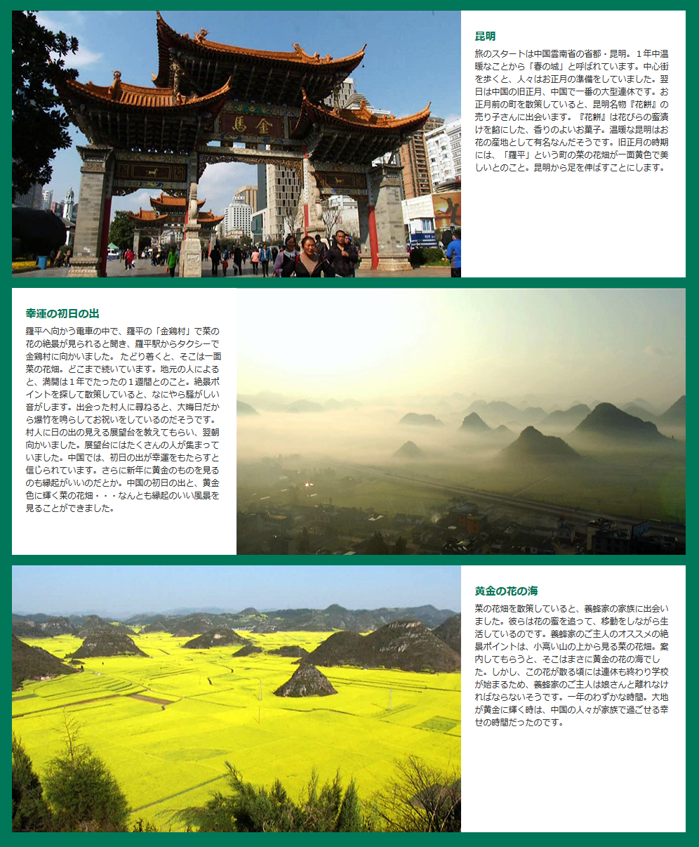 地球絶景紀行 雲南 花輝く大地 中国